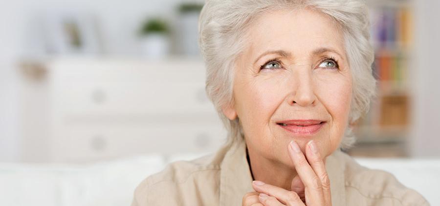 Senior Woman Considering Treatment
